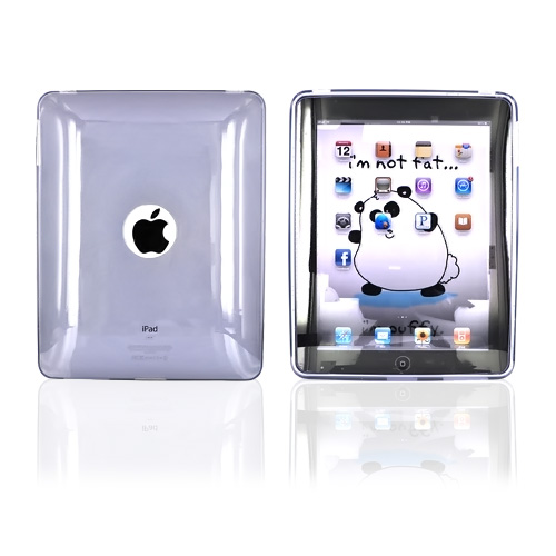 Apple iPad (1st Gen) 1st Crystal Silicone Case, Rubber Skin - Transparent Smoke