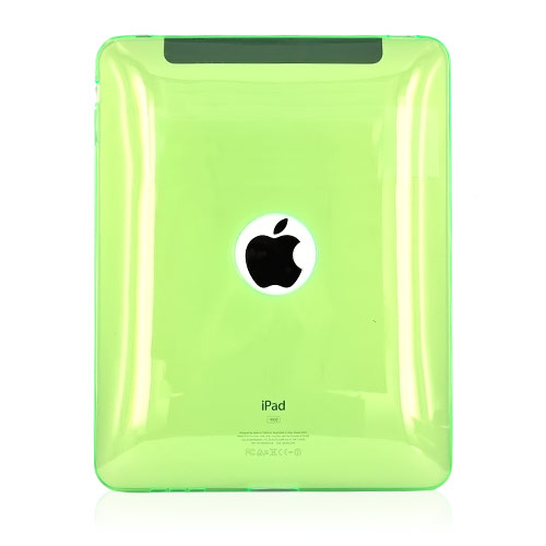 Apple iPad (1st Gen) 1st Crystal Case, Rubber Skin - Transparent Green