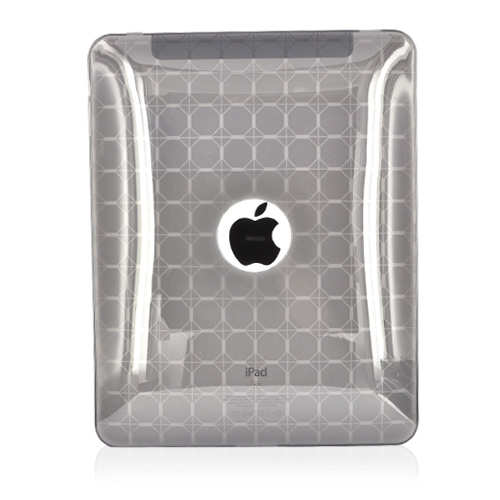 Apple iPad (1st Gen) 1st Crystal Case, Rubber Skin - Transparent Smoke Octagon Design
