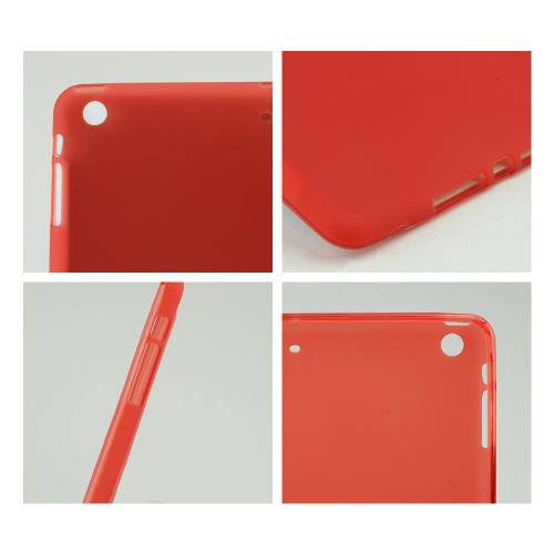Frosted Red Crystal Silicone Skin Case for Apple iPad Air