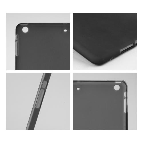 Frosted Smoke Crystal Silicone Skin Case for Apple iPad Air