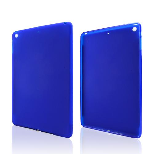 Blue Crystal Silicone Skin Case for Apple iPad Air