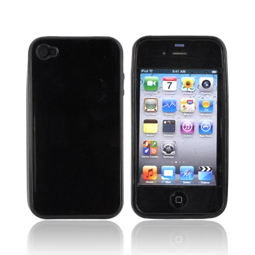 Luxmo Apple iPhone 4 Crystal Silicone Case - Black