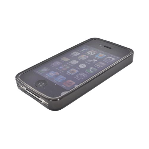 AT&T/ Verizon Apple iPhone 4, iPhone 4S Crystal Silicone Case - Black 3D Cubes
