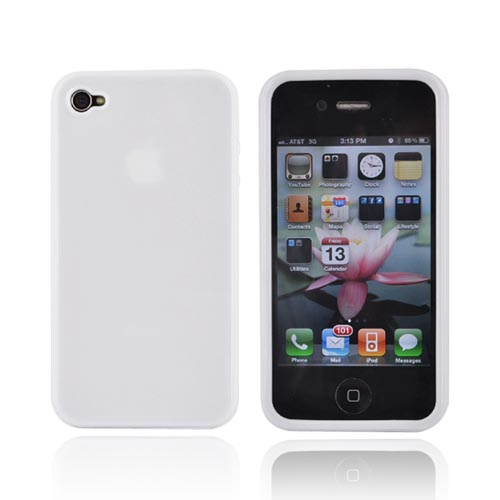Luxmo Apple iPhone 4 Crystal Silicone Case - White