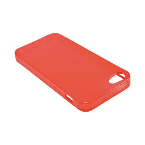 Apple iPhone 5/5S Crystal Silicone Case - Argyle Red