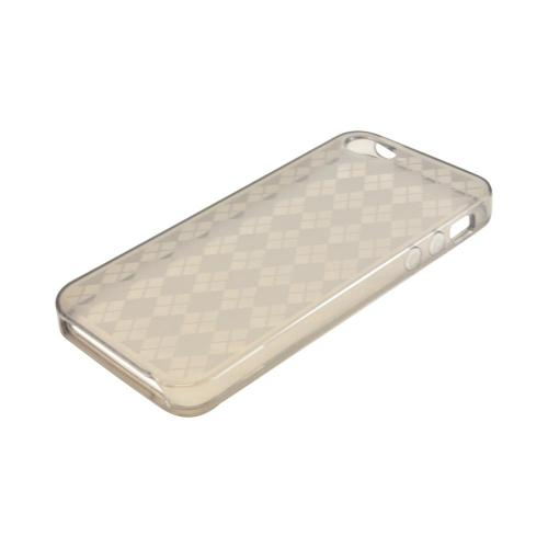 Apple iPhone 5/5S Crystal Silicone Case - Argyle Smoke