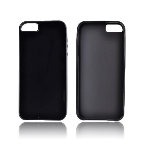 Apple iPhone 5/5S Crystal Silicone Case - Black