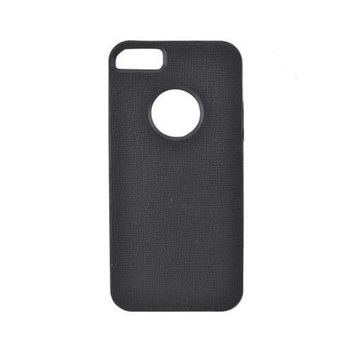 Apple iPhone 5/5S Crystal Silicone Case w/ Bumper - Black/ White