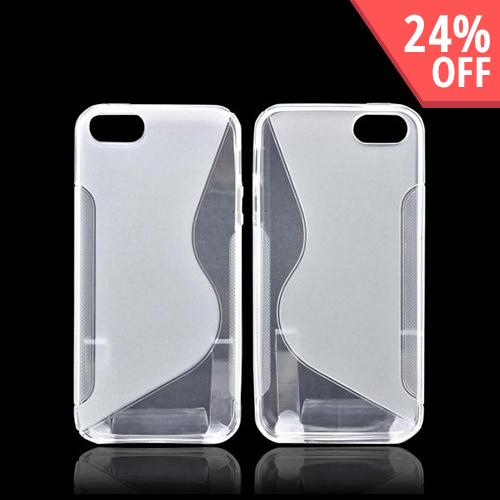 Apple iPhone SE / 5 / 5S  Case,  [Clear S]  Slim & Flexible Anti-shock Crystal Silicone Protective TPU Gel Skin Case Cover