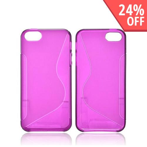Apple iPhone SE / 5 / 5S  Case,  [Magenta S]  Slim & Flexible Anti-shock Crystal Silicone Protective TPU Gel Skin Case Cover