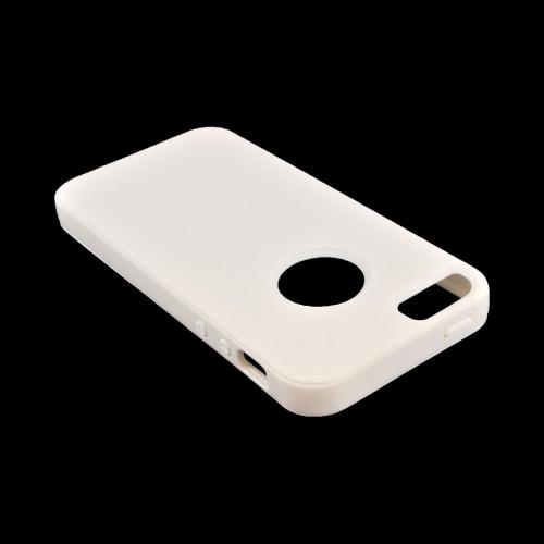 Apple iPhone 5/5S Crystal Silicone Case w/ Bumper - White