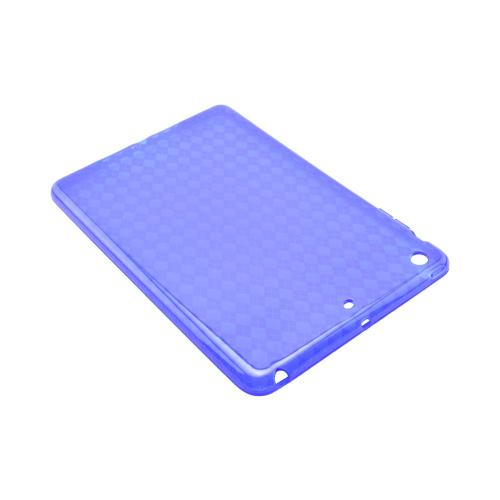 Argyle Blue Crystal Silicone Skin Case for Apple iPad Mini 1/2/3
