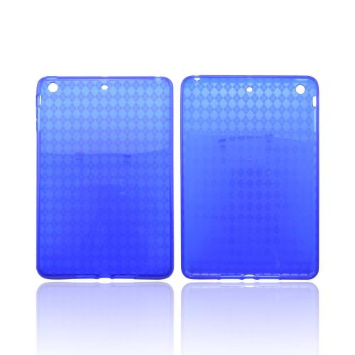 Argyle Blue Crystal Silicone Skin Case for Apple iPad Mini/ iPad Mini 2