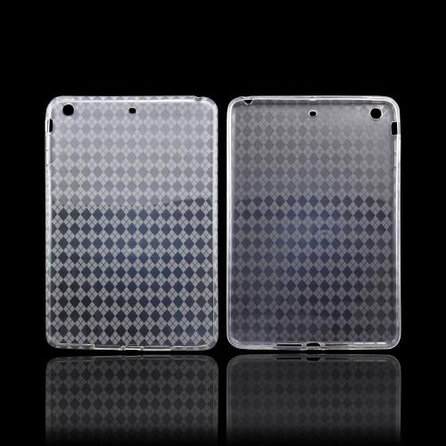 Argyle Clear Crystal Silicone Skin Case for Apple iPad Mini 1/2/3