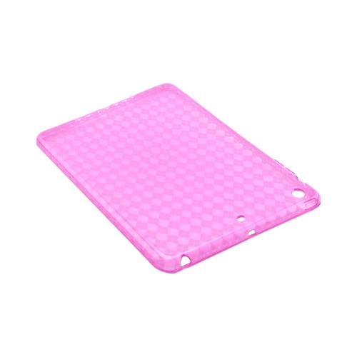 Argyle Hot Pink Crystal Silicone Skin Case for Apple iPad Mini 1/2/3