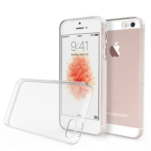 [Apple iPhone SE/5/5S] Case, REDshield [Clear] Slim & Flexible Anti-shock Crystal Silicone Protective TPU Gel Skin Case Cover