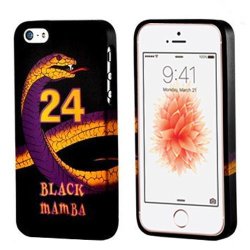 Apple iPhone SE / 5 / 5S  Case, REDshield [Black Mamba Purple/ Gold Snake on Black]  Slim & Flexible Anti-shock Crystal Silicone Protective TPU Gel Skin Bumper Case w/ Metal Buttons