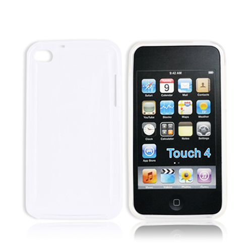 Luxmo Apple iPod Touch 4 Crystal Silicone Case - Frost White