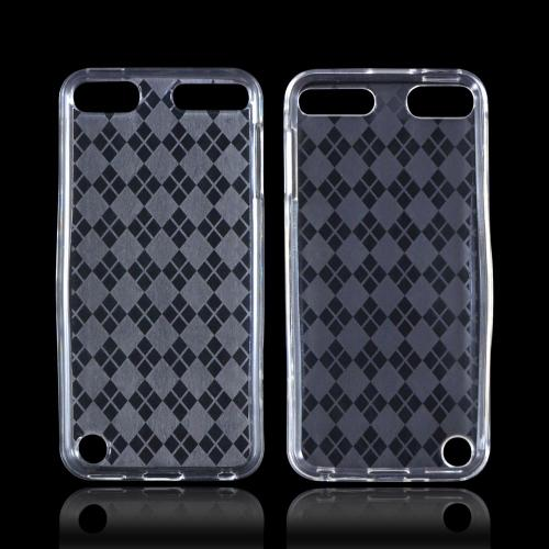 Apple iPod Touch 5 Crystal Silicone Case - Argyle Clear