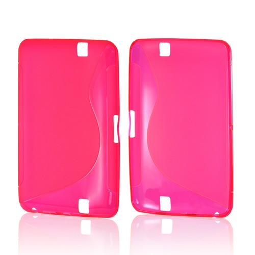Hot Pink S Design Crystal Silicone Case for Amazon Kindle Fire HD