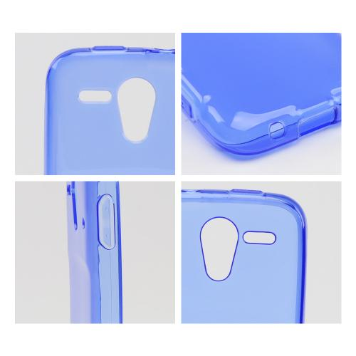 Blue w/ Frosted Back Crystal Silicone Skin Case for Kyocera Hydro Edge