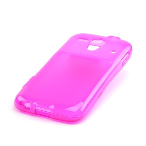 Hot Pink Crystal Silicone Case for Kyocera Hydro Edge