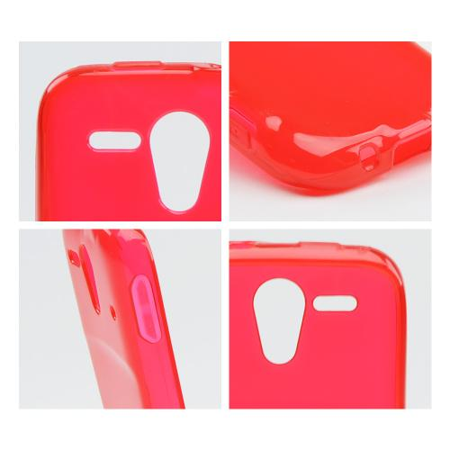 Red Crystal Silicone Case for Kyocera Hydro Edge