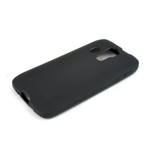 Black Kyocera Hydro Vibe Flexible Crystal Silicone TPU Case - Conforms To Your Phone Without Stretching Out!