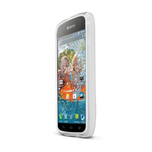Clear/ Frost Kyocera Hydro Vibe Flexible Crystal Silicone TPU Case - Conforms To Your Phone Without Stretching Out!