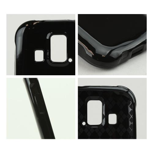 Black (Argyle Interior) Crystal Silicone Skin Case for Kyocera Hydro XTRM