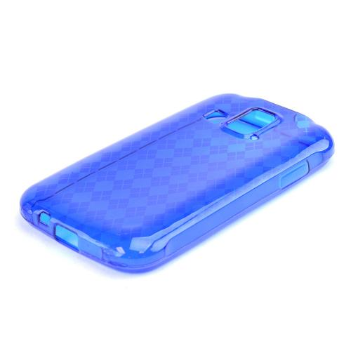 Argyle Blue Crystal Silicone Skin Case for Kyocera Hydro XTRM