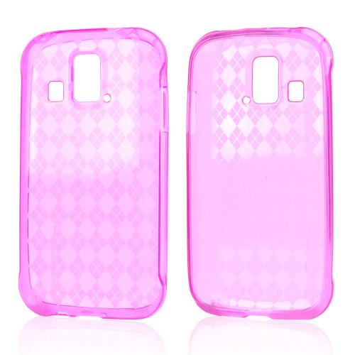 Argyle Hot Pink Crystal Silicone Skin Case for Kyocera Hydro XTRM