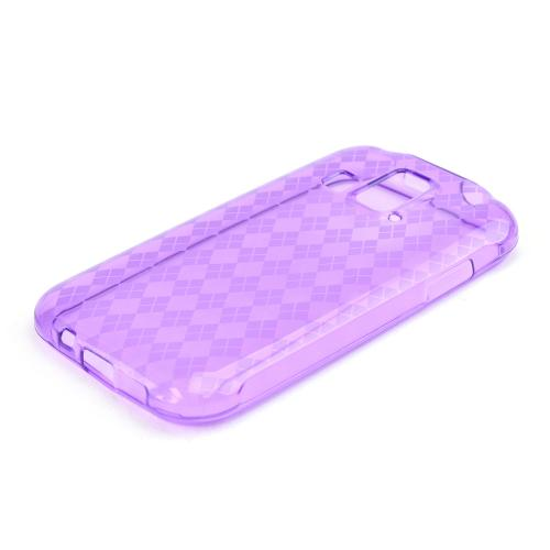 Argyle Purple Crystal Silicone Skin Case for Kyocera Hydro XTRM