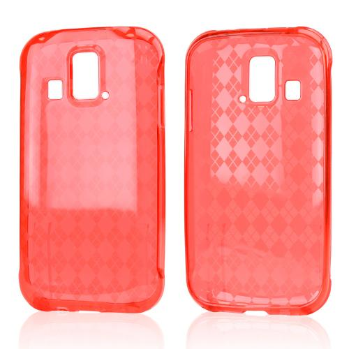 Argyle Red Crystal Silicone Skin Case for Kyocera Hydro XTRM