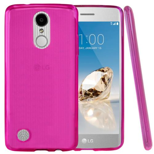 LG Aristo Case, REDshield Slim & Flexible Anti-shock Crystal Silicone TPU Skin Protective Cover [Hot Pink]