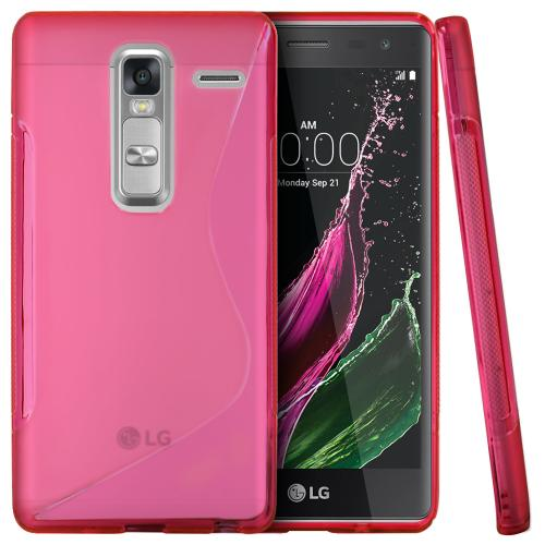 LG Class Case, [Hot Pink] Slim & Flexible Crystal Silicone TPU Protective Case
