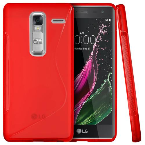 LG Class Case, [Red] Slim & Flexible Crystal Silicone TPU Protective Case