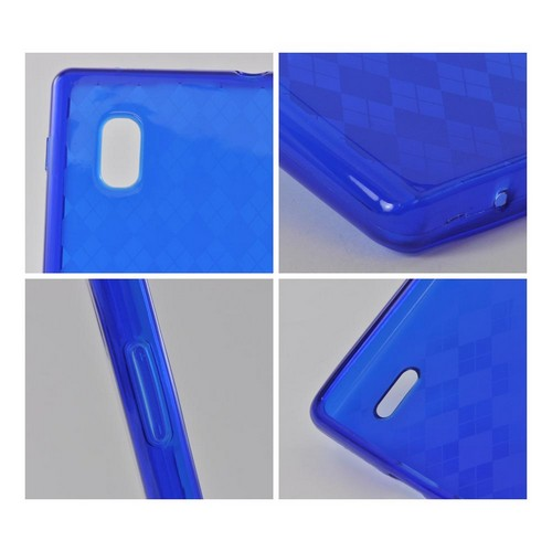 Blue Argyle Crystal Silicone Case for LG Optimus G (AT&T)