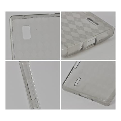 Argyle Smoke Crystal Silicone Case for LG Optimus G (AT&T)