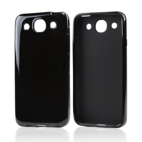 Black Crystal Silicone Skin Case for LG Optimus G Pro