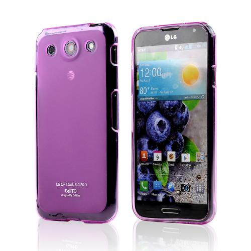 Hot Pink/ Frosted Matte Crystal Silicone Skin Case for LG Optimus G Pro