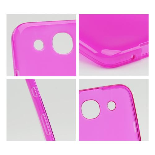 Hot Pink Crystal Silicone Case w/ Frosted Back for LG Optimus G Pro