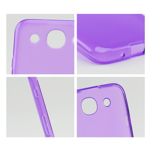 Purple Crystal Silicone Case w/ Frosted Back for LG Optimus G Pro