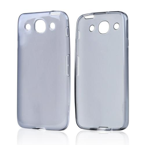 Smoke Crystal Silicone Case w/ Frosted Back for LG Optimus G Pro