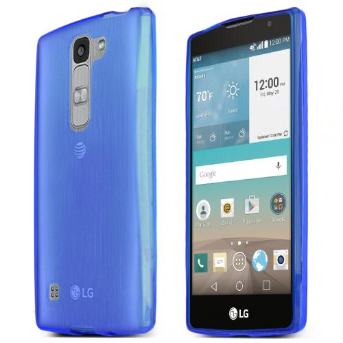 LG Escape 2 (ATT, Cricket) Case, BLUE Slim & Flexible Anti-shock Crystal Silicone TPU Skin Protective Case