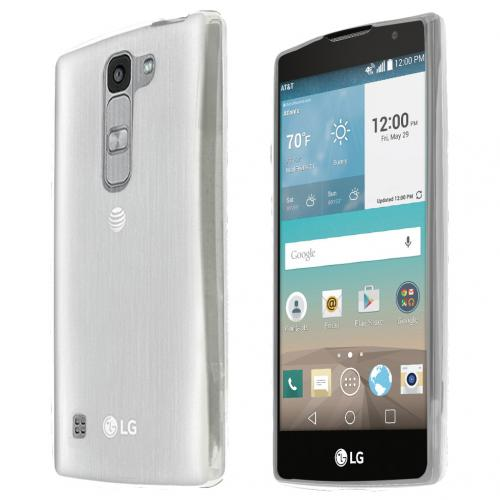 LG Escape 2 (ATT, Cricket) Case, CLEAR Slim & Flexible Anti-shock Crystal Silicone TPU Skin Protective Case