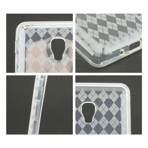 Argyle Clear Crystal Silicone Skin Case for LG Optimus F6