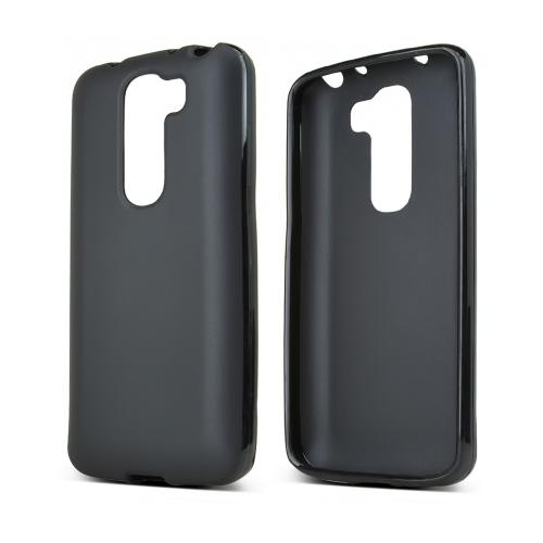 LG Black G2 Mini Flexible Crystal Silicone Tpu Case - Con...