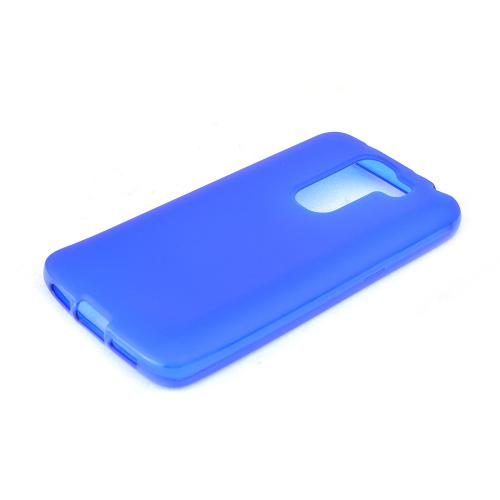 Blue/ Frost LG G2 Mini Flexible Crystal Silicone TPU Case - Conforms To Your Phone Without Stretching Out!